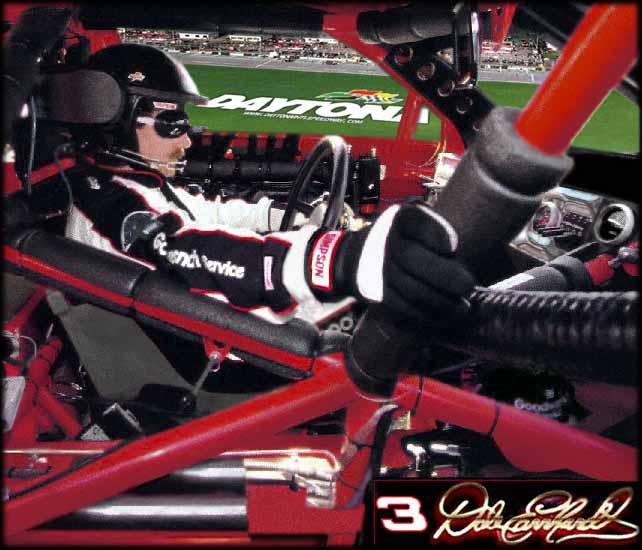 Dale Earnhardt in Rare Form behind the wheel of the #3 Goodwrench Chevy