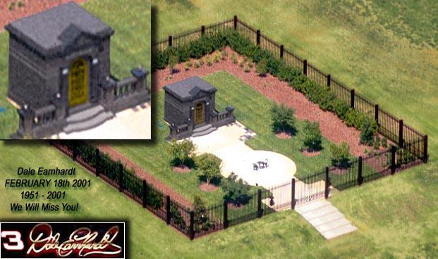 Dale Earnhardt final resting place Memorial Plot