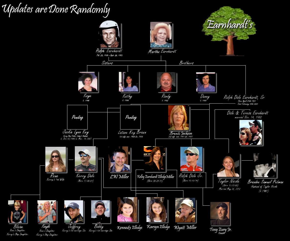 Earndardt Family Tree with 4 generations of family