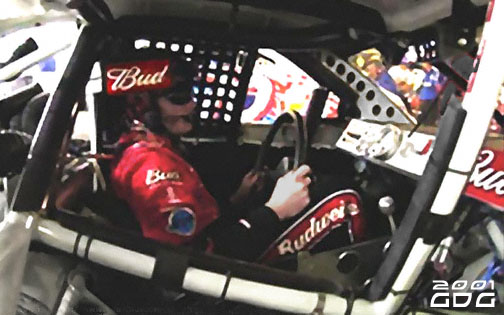 Dale Earnhardt Jr. Behind the wheel of #8 Budweiser