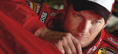Dale Jr. Concentrates before the race