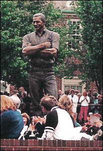 Dale's Statue standing proud