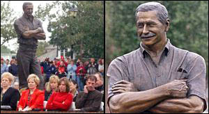 Close Up on the Day of unveiling of Dale Earnhardt's Statue