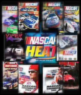 Nascar Heat, Nascar Thunder 2003, Nascar Thunder 2004, Nascar Racing Season 2002, Nascar Racing Season 2003, Nascar Racing, Craftsmen Truck Series, Nascar Legends, Grand Prix Legends,national association for stock car auto racing