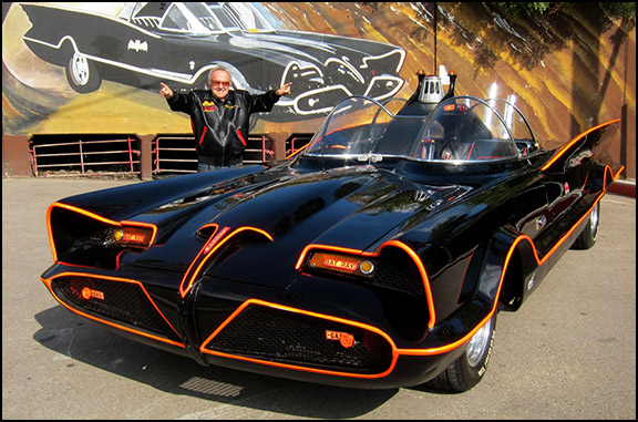 Batmobile and Owner