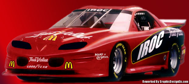 True Value IROC Logo red race car