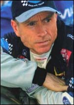 Mark Martin with the look of concentration